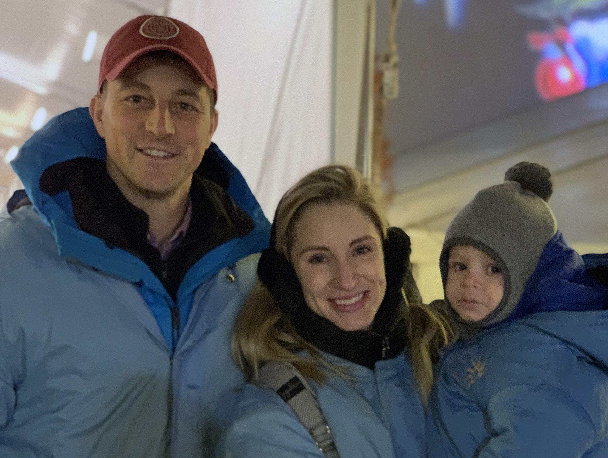 Eric Jones '04, Isabela Jones '08, and Atlas Jones (prospective member of the Class of 2039)