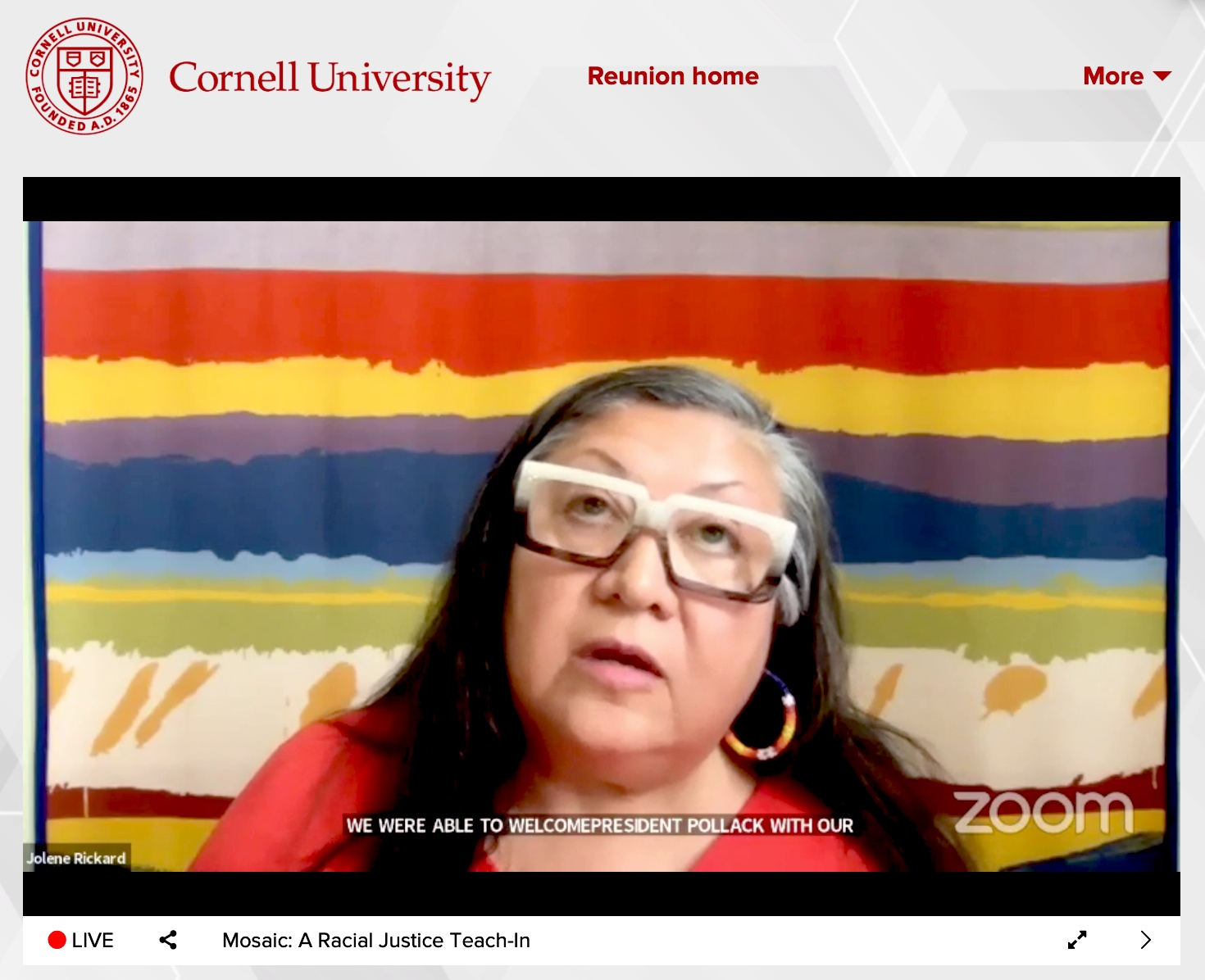 Jolene Rickard, associate professor in the American Indian and Indigenous Studies Program at Cornell