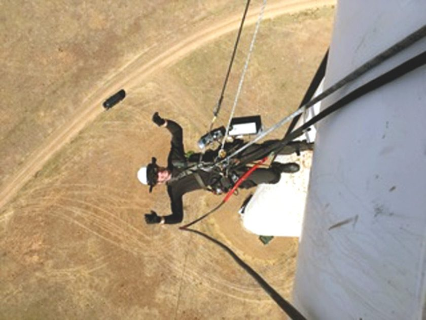 Kalil experiences true isolation at work on a windfarm, where he has only cows and horses to interact with.