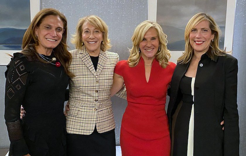 Cornell Trustees Karen Zimmer '91, MD '98; Peggy Koenig '78; Jan Rock Zubrow '77; and Dalia Stiller '84.