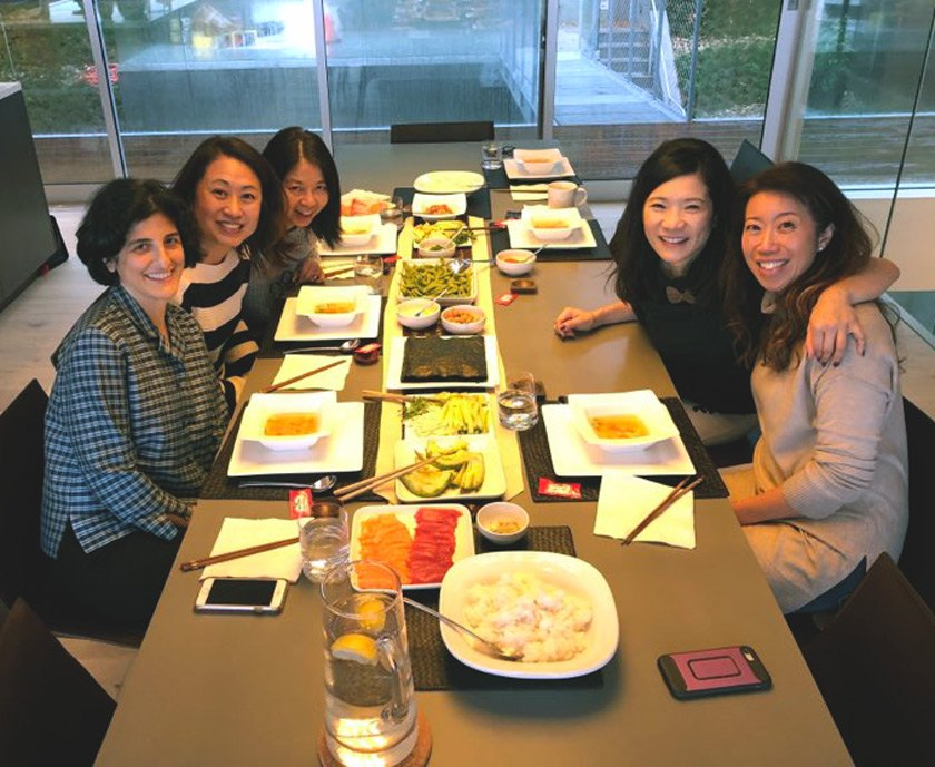 Priscilla Hung '89 (top right) and friends celebrating Cornell Reunion 2020 in San Francisco.