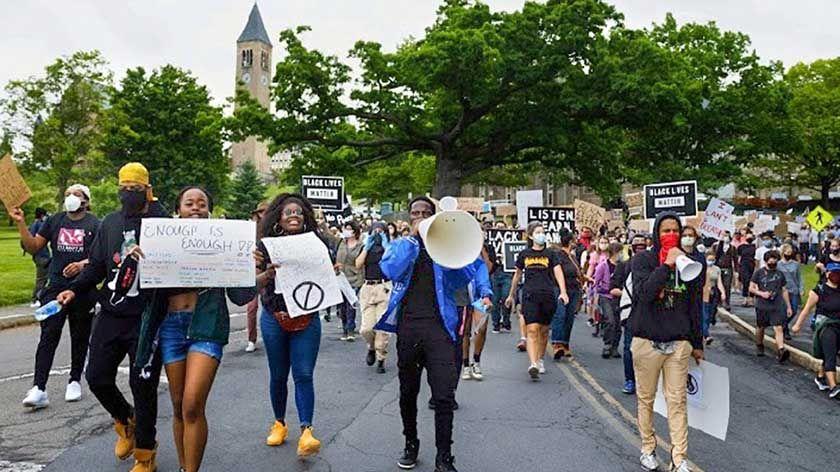 Community members protesting