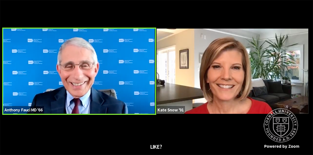 Dr. Anthony Fauci MD '66 and NBC News' Kate Snow '91