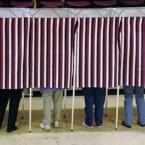 Voting booths in Montpelier, Vermont