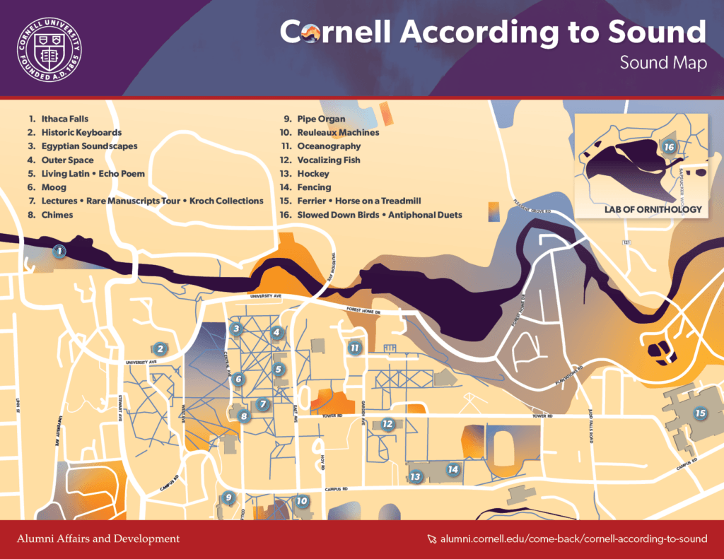 Map of Cornell Ithaca campus