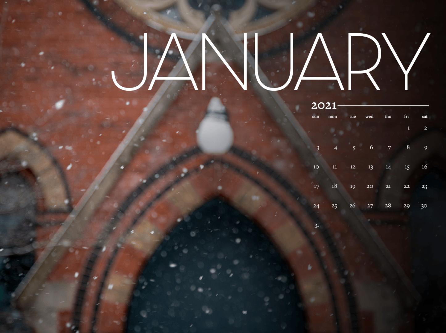 January calendar background