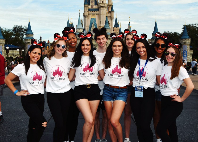 CUDT team members enjoy a celebratory day at Magic Kingdom following the UDA competition in February 2020.