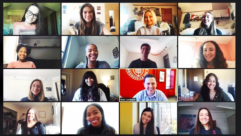 Following the UDA competition, CUDT members met via Zoom with Ryan Lombardi, vice president of Student and Campus Life, to share their story and celebrate their success.