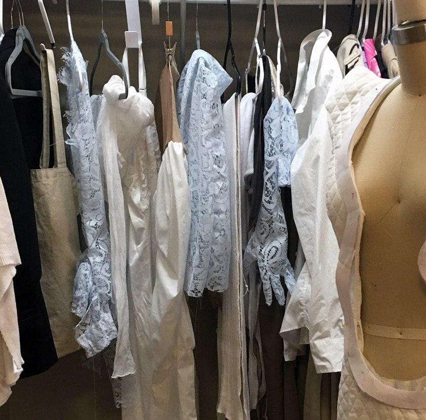 Yvonne Schichtel has converted her closet into a clothing rack.