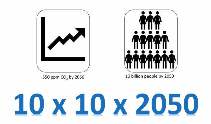 """""""10 x 10 x 2050"""" slide from Dean Houlton's Feb 22 seminar"""
