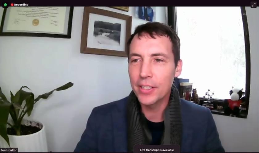 Screenshot of Dean Houlton from Feb 22 seminar