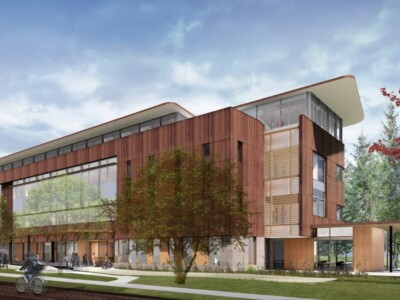 An artist's rendering of Atkinson Hall