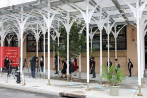 Urban Umbrella is the only alternative scaffolding bridge approved by the NY Department of Building and the first design substitute to be introduced to the market in over 50 years.