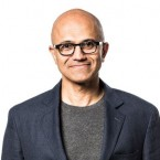 Microsoft CEO Satya Nadella and Cornell University President Martha E. Pollack
