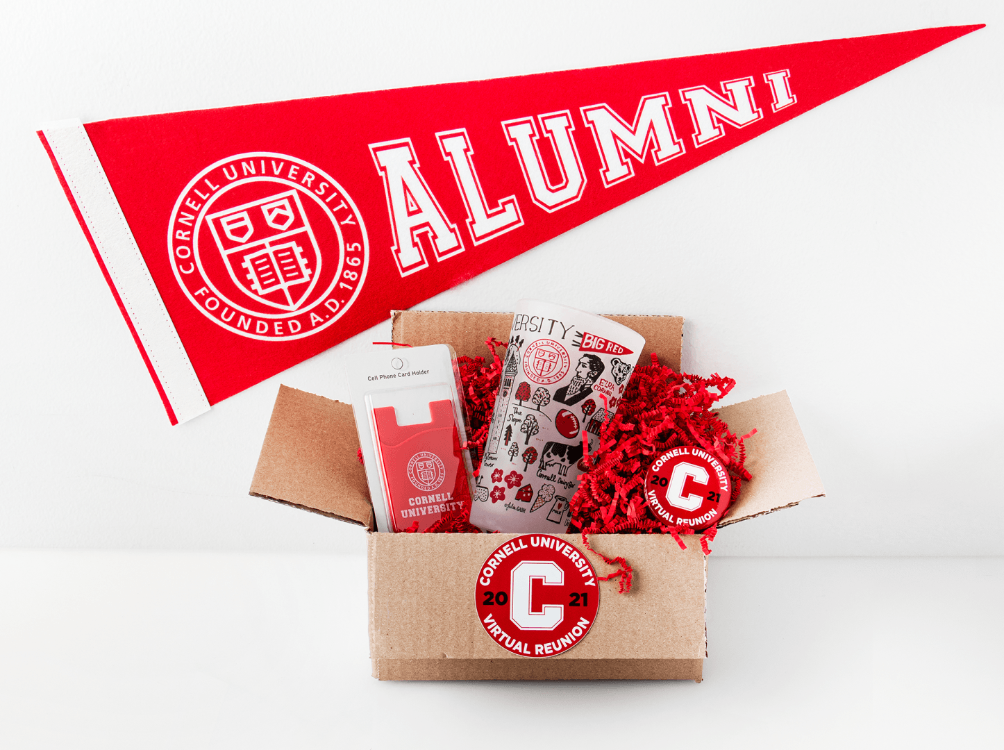 Cornell Store swag for Virtual Reunion