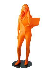 3D-printed statue of Karina Popovich '23