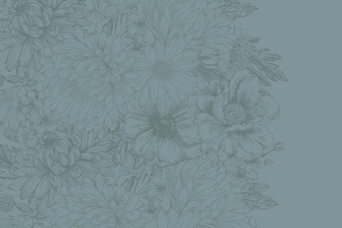 flower pattern on blue background