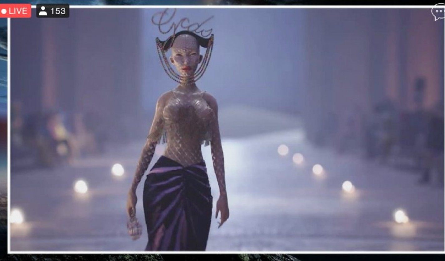 Milan Fashion Week in September 2020 featured avatars like this one, modeling in a virtual space.