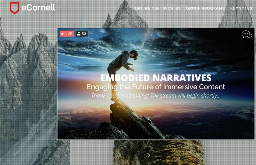eCornell keynote event slide