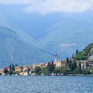 Italian lake with mountains