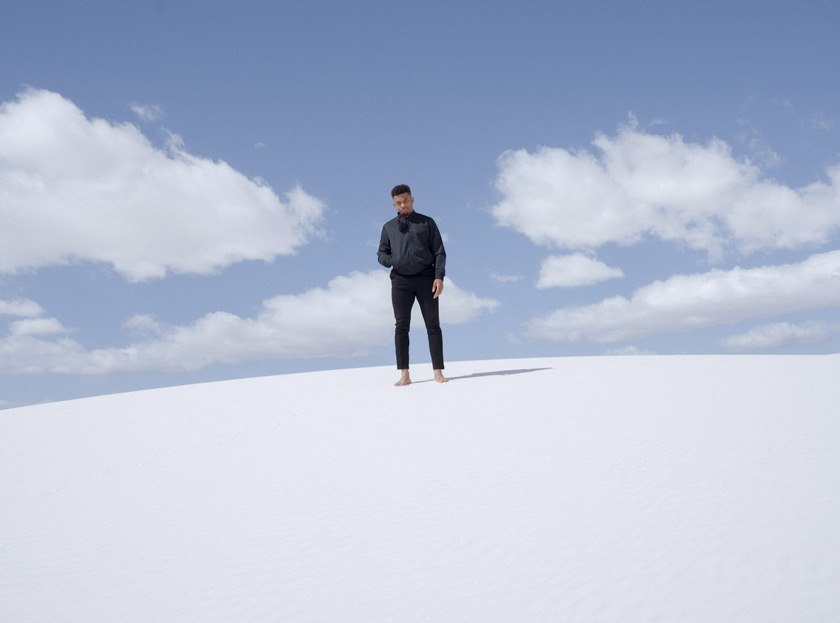 Jelani at White Sands National Park in New Mexico in March 2021