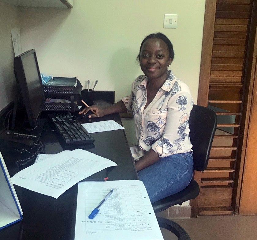 Valencia volunteering at the Baylor College of Medicine Children's Foundation in Mwanza, Tanzania