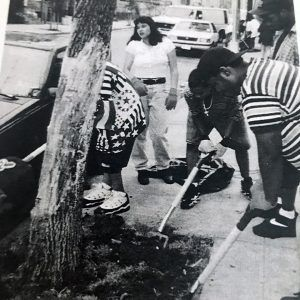Photo from the 1996 newsletter that CCE-NYC published about Firoza's summer internship in the Bronx