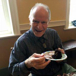 Harold Oaklander '52 has always enjoyed a good birthday layer cake.