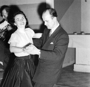 Renata's parents met at the Polanie Club in Buffalo, NY. Both loved to dance, and this photo shows them at a dance competition in the early 1950s.
