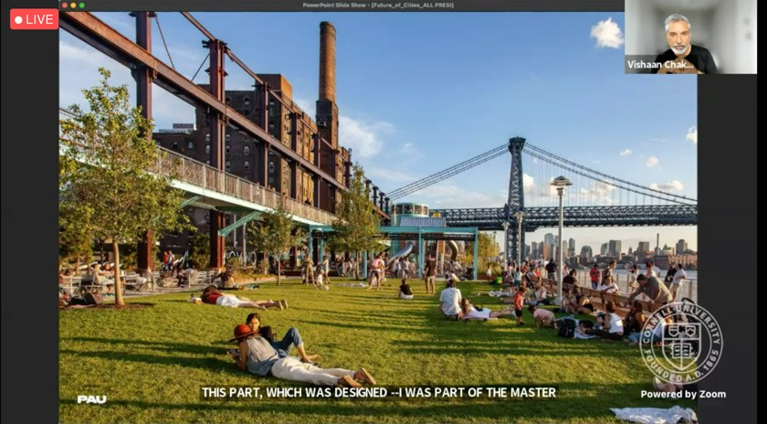 Domino Park in NYC, which Vishaan helped design, brings together residents from different communities and socio-economic groups.