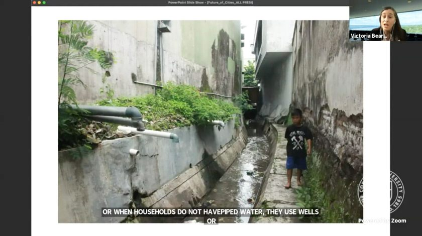 Screenshot of self-provided sanitation solutions, in which wastewater is released into an open canal