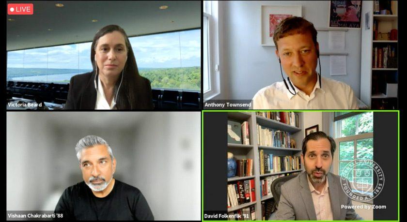 Screenshot of The Future of Cities presenters
