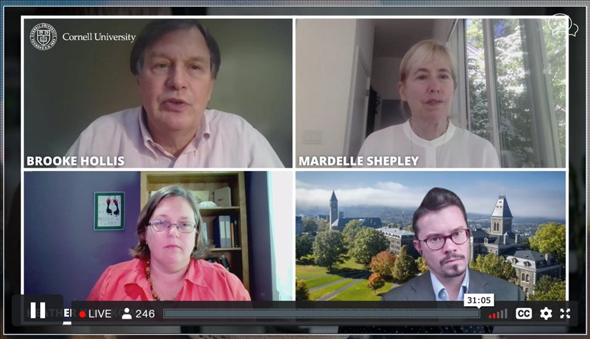 Screenshot of presenters from eCornell June 24 keynote