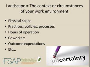 Landscape slide from FSAP webinar