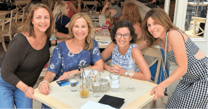 Karen Abrahams '82 and her college roommates