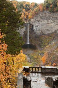 Taughannock Falls in fall.