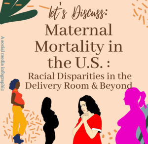 A student in Jamila's class created a series of infographics focused on maternal mortality.