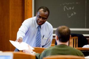 Muna Ndulo teaching at Cornell Law School