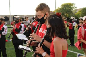 The BRMB performing at the Homecoming post-game concert