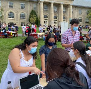 COULD members share their mission and goals with interested students at fall 2021 ClubFest.