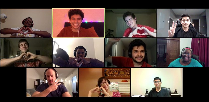 CU Cyphers members and alumni showing support at one of many virtual meetings held during the pandemic.