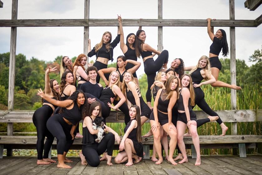 Pandora Dance Troupe group photo taken in fall 2019